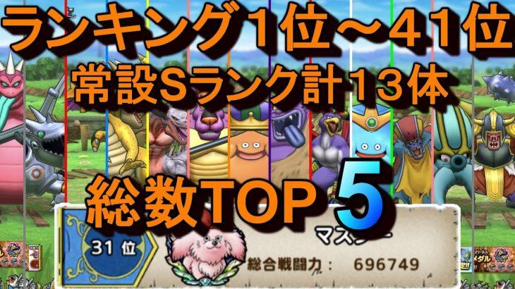 【ドラクエタクト】ランキング1位~41位、常設Sランク総数TOP5