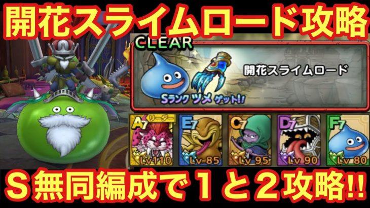 【ドラゴンクエストタクト】開花スライムロード攻略!Sランク無しの同編成でステージ1・2攻略する立ち回り!!